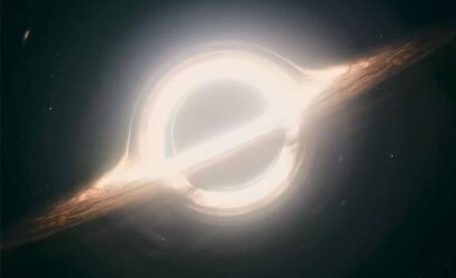 Artist impression van een zwart gat