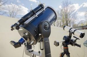 Telescopen op de zondag middag